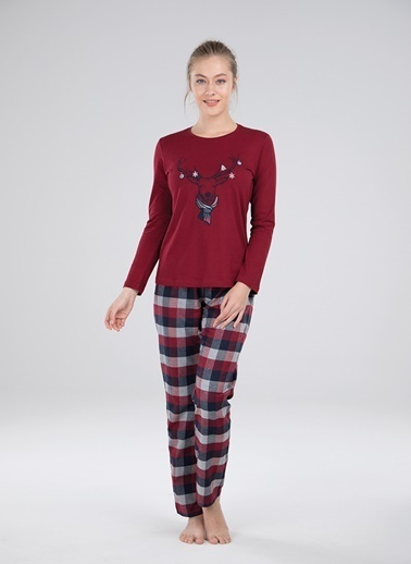 Blackspade Pijama Takım Kırmızı